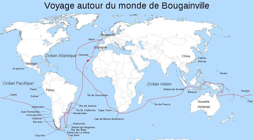 Circumnavigation 5 bougainville 1766 1769 amnistiegenerale for Decoration voyage autour du monde